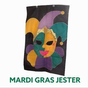 Outdoor Flag Mardi Gras Jester